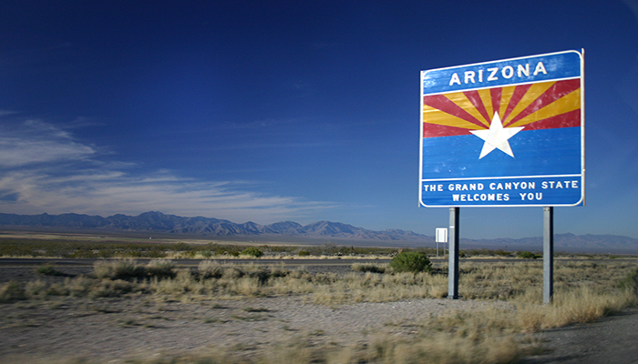 Arizona welcome sign